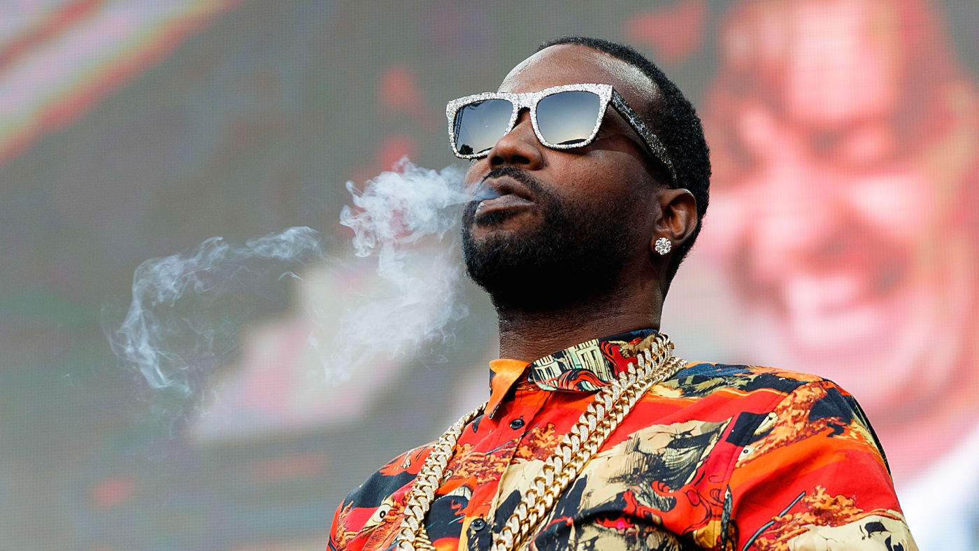 Rapper Juicy J performs on stage during day 2 of Center Of Gravity 2018