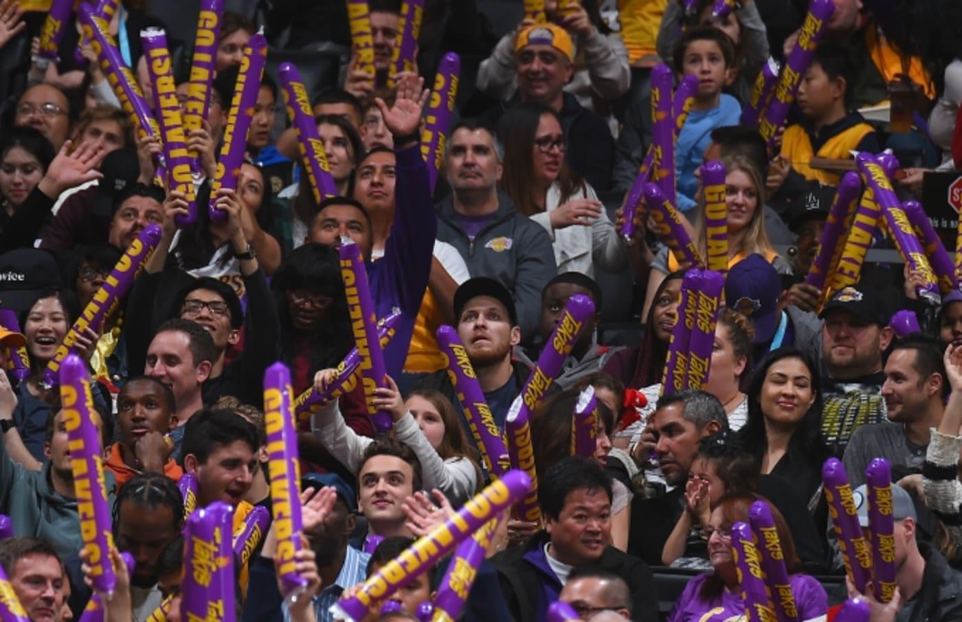 Lakers fans.
