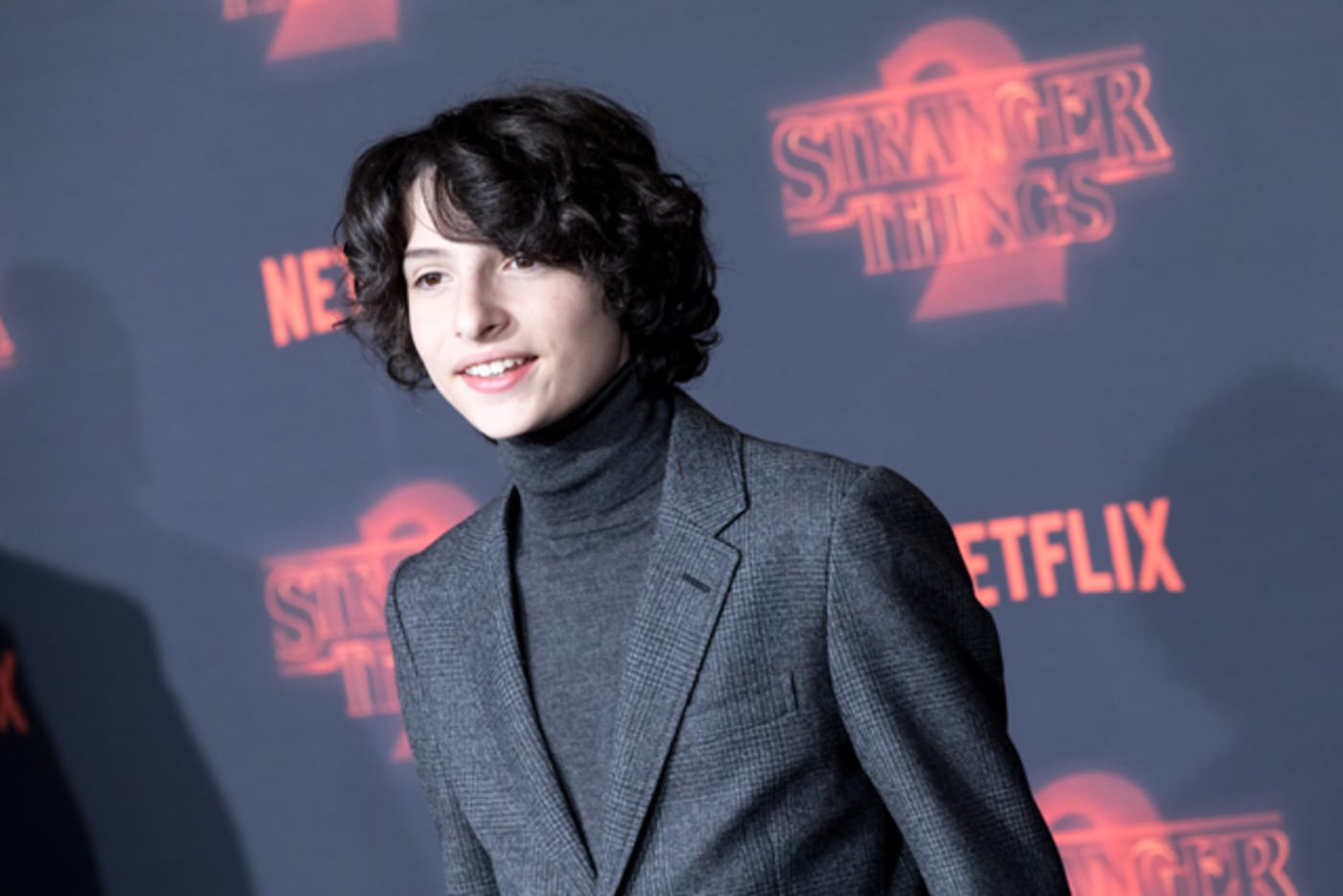 Finn Wolfhard attends 'Stranger Things 2' premiere