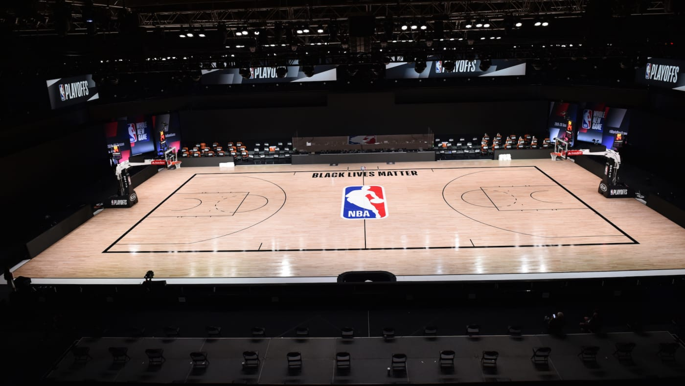 A general overall view of Bucks against Magic for Game 5 of the 2020 Playoffs.