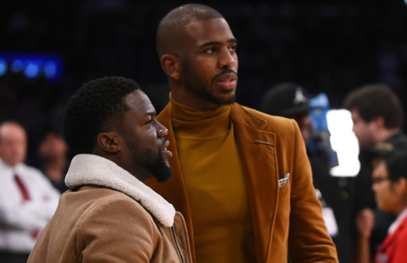 Kevin Hart and Chris Paul.