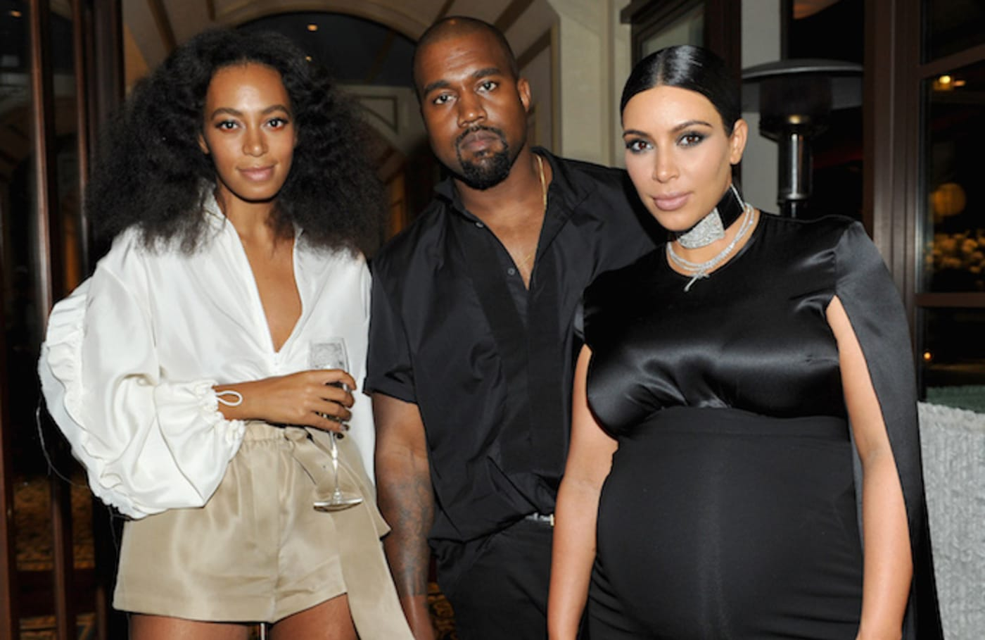 Solange Knowles and Kanye West