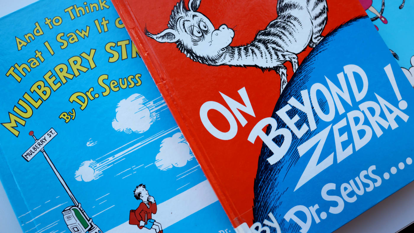 Discontinued Dr. Seuss books offered for loan at the Chicago Public Library.