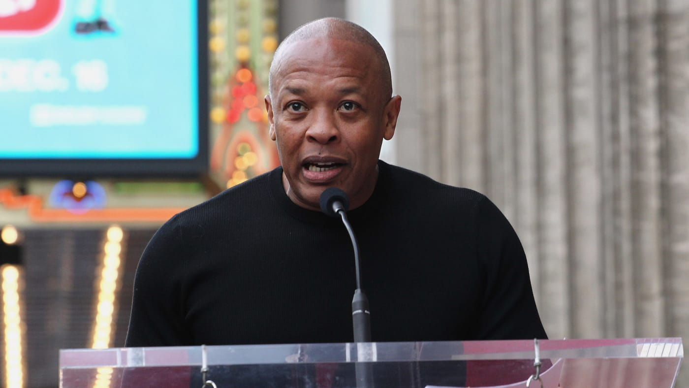 Dr. Dre attends a ceremony honoring Snoop Dogg With Star On The Hollywood Walk Of Fame