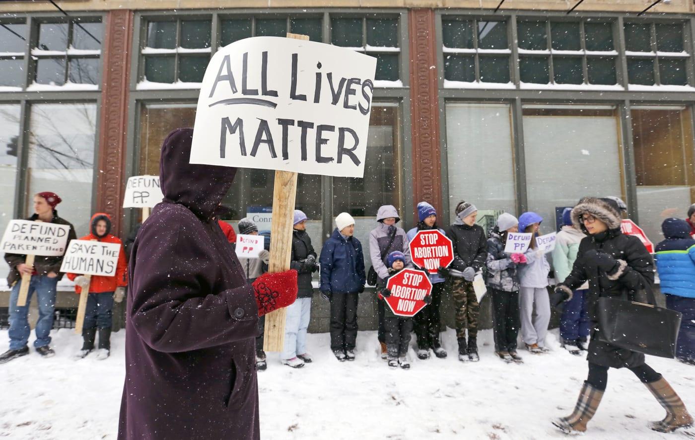 all lives matter sign