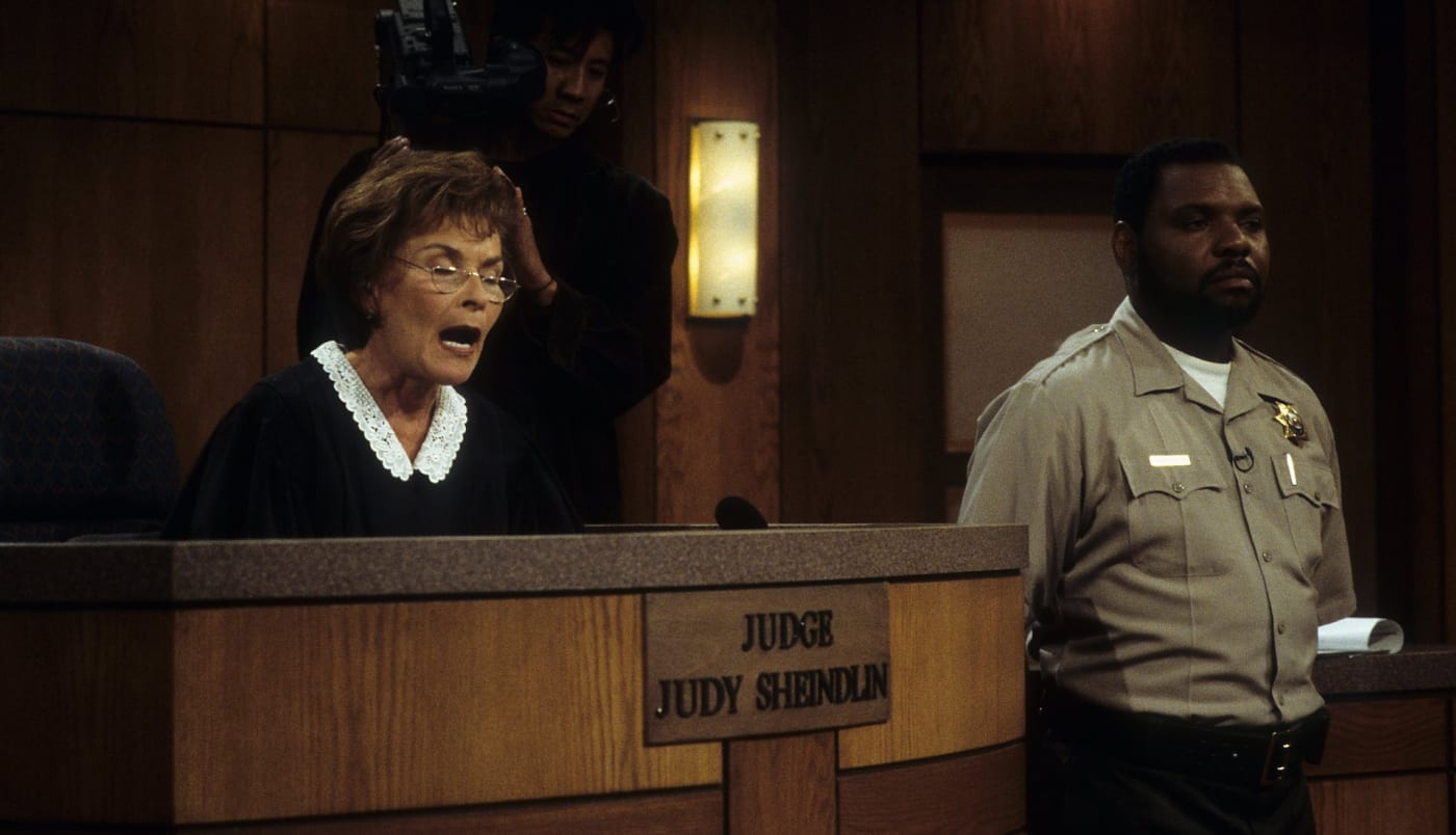 Judge Judy and Baliff Petri Hawkins