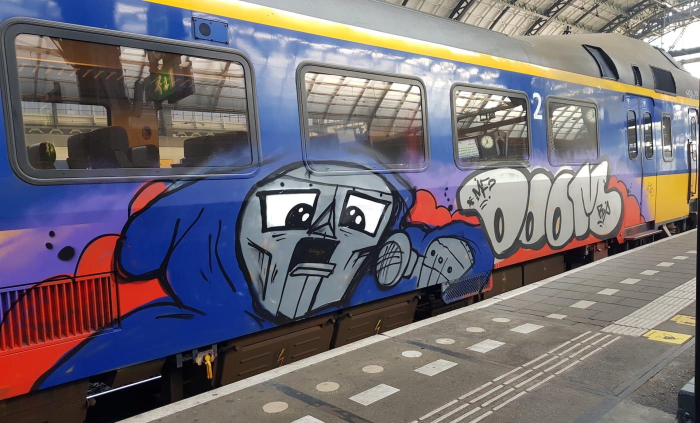 MF Doom Graffiti Train