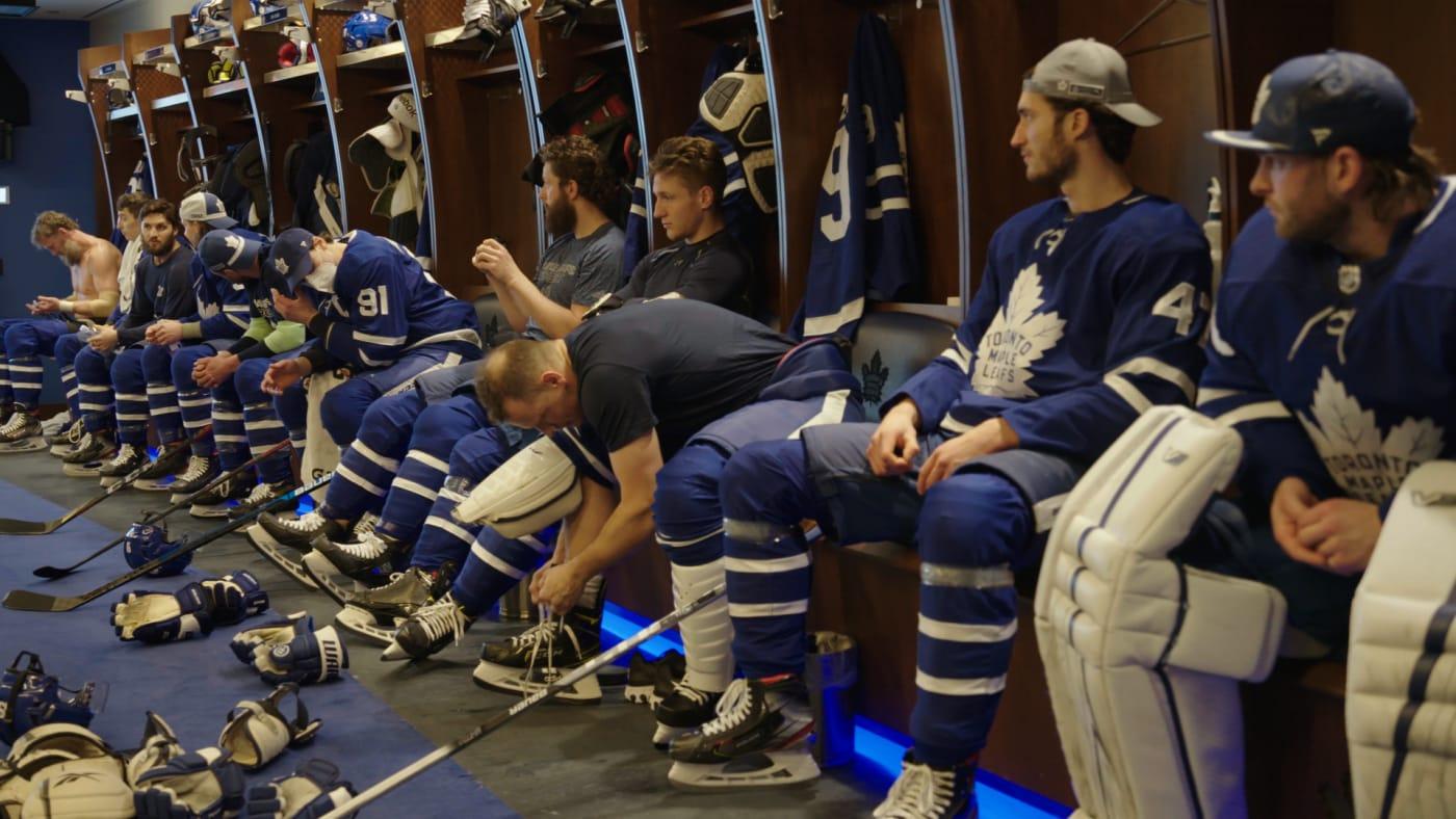 Toronto Maple Leafs lockerroom