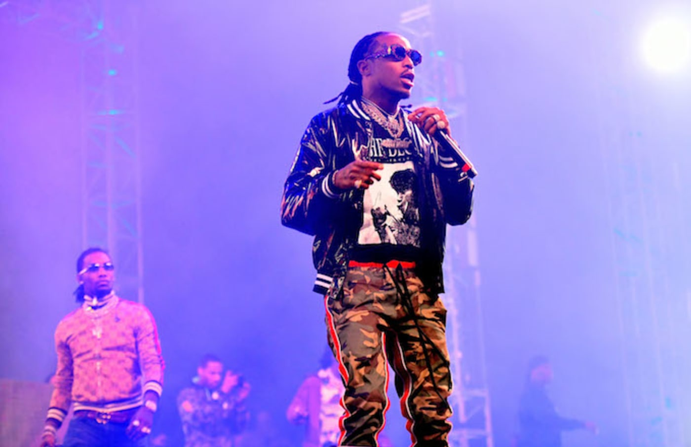 This is Quavo of the Migos performing.
