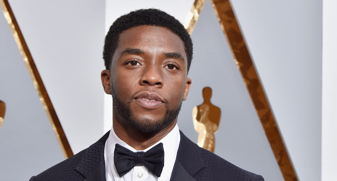 Chadwick Boseman attends the 88th Annual Academy Awards
