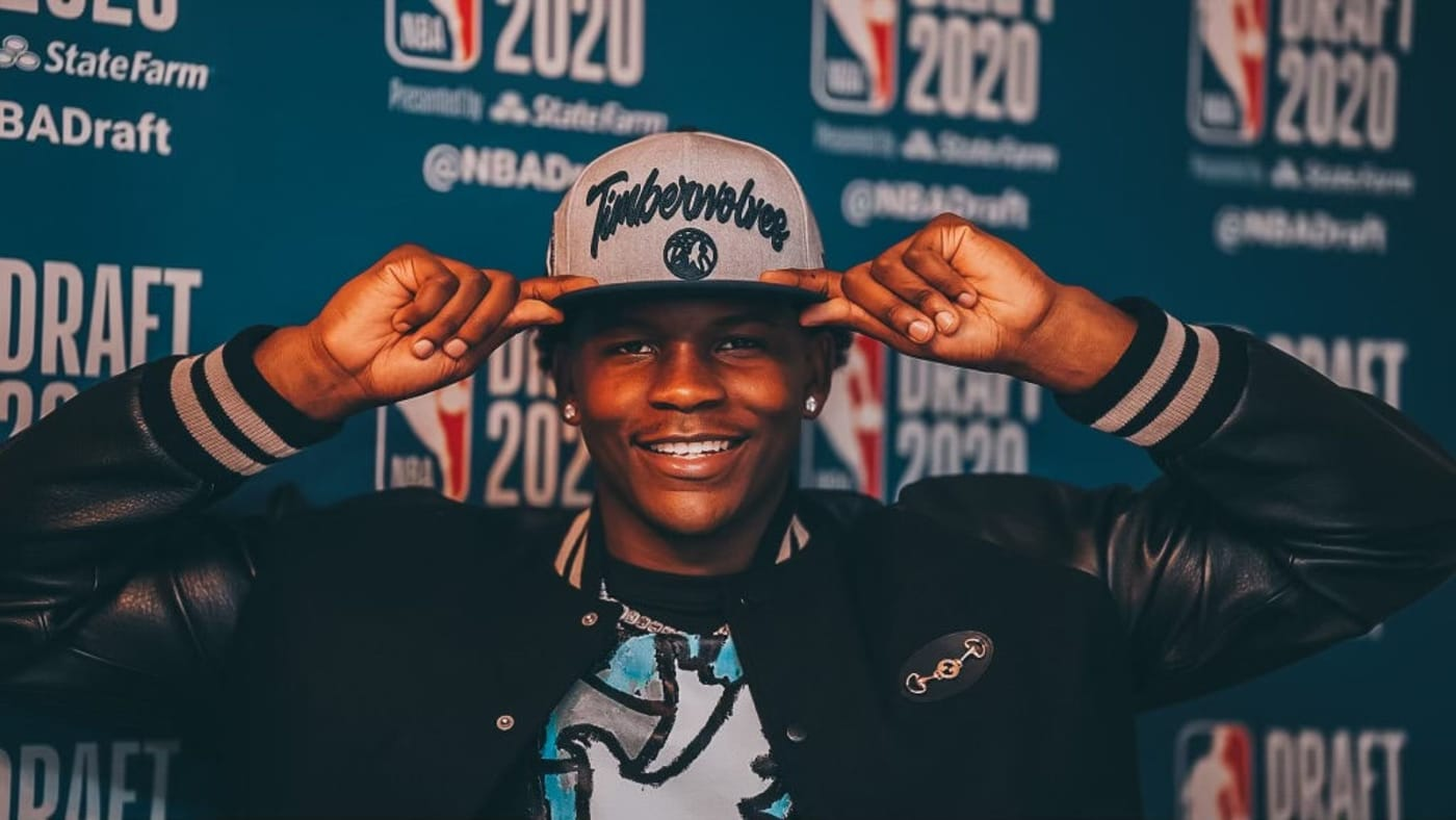 Anthony Edwards Hat Timberwolves NBA Draft 2020