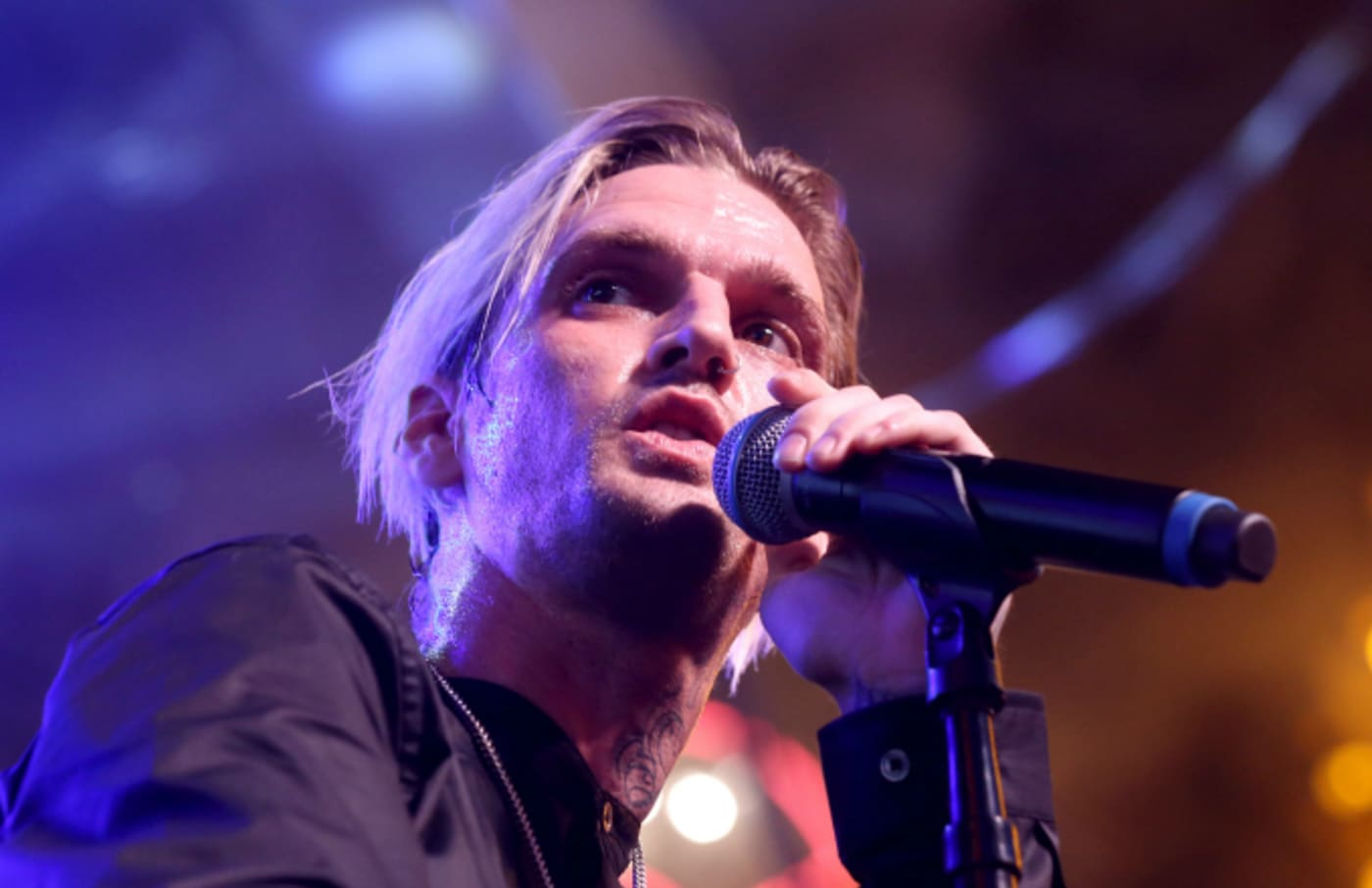 Singer and producer Aaron Carter performs
