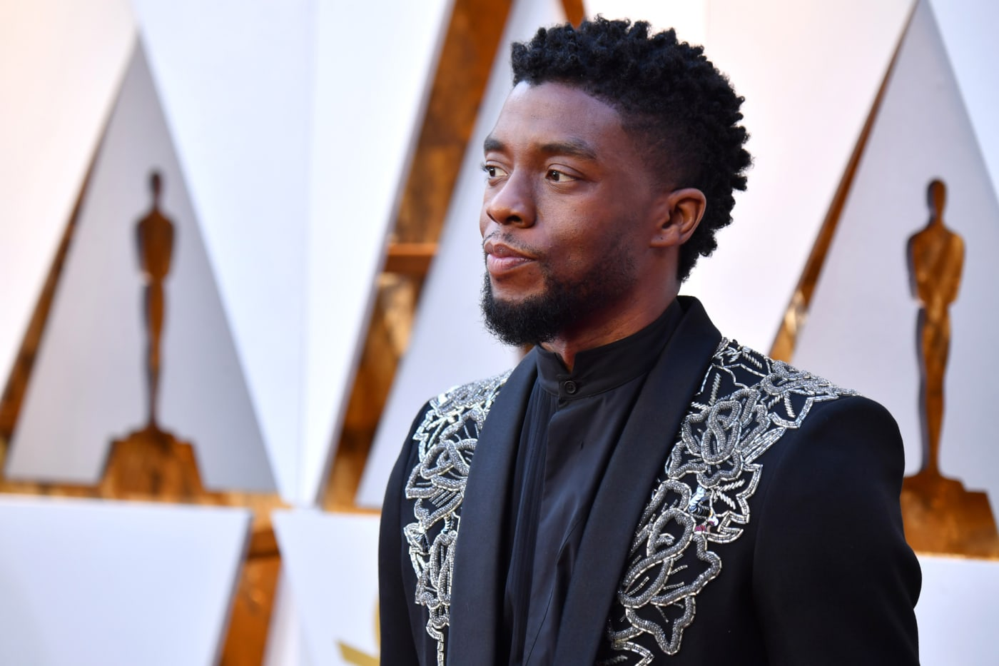 Chadwick Boseman attends the 90th Annual Academy Awards