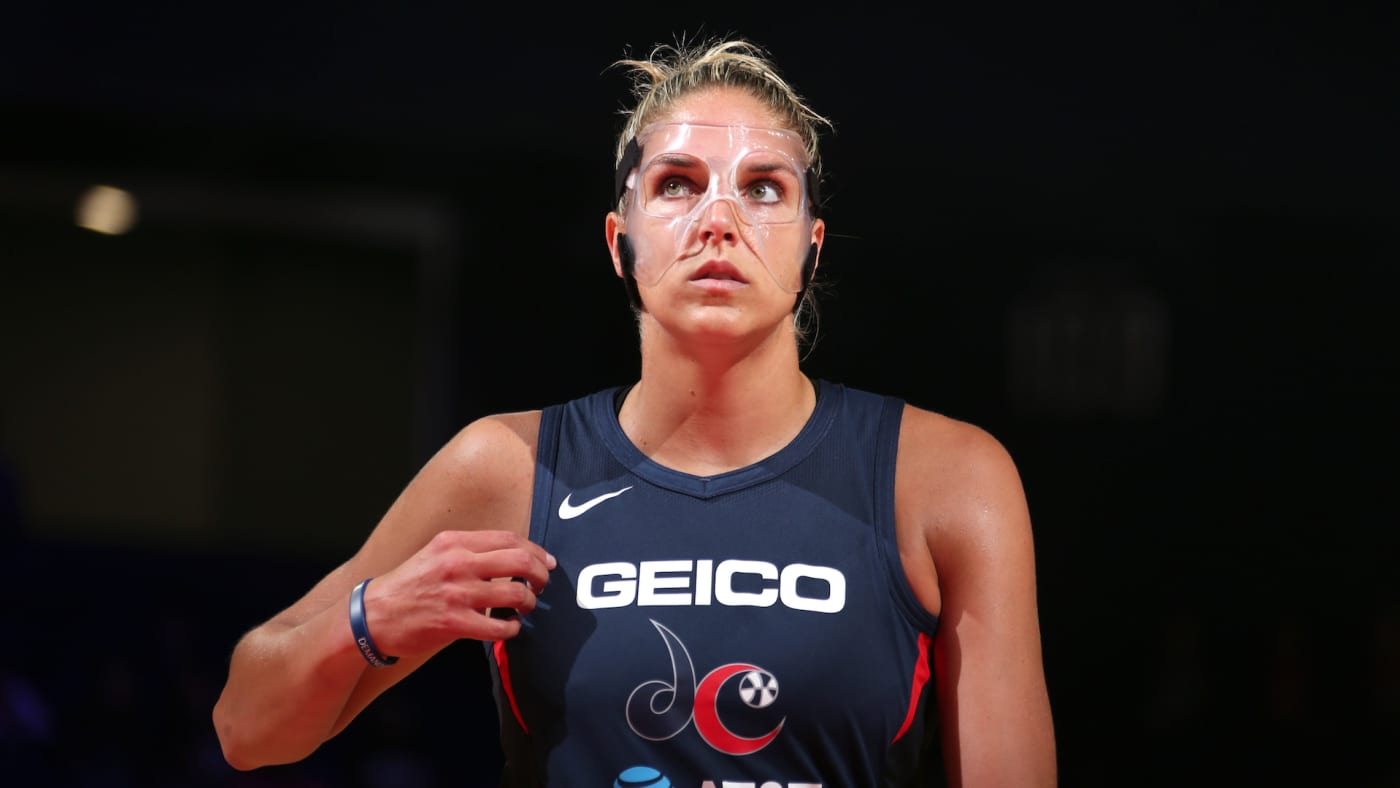 Elena Delle Donne looks on during the game against the Seattle Storm.