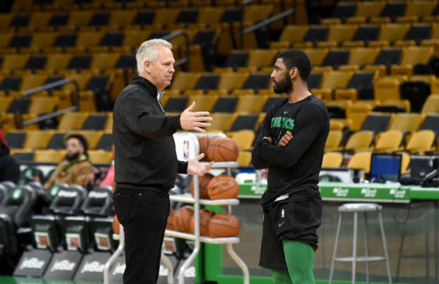 General Manager Danny Ainge and Kyrie Irving