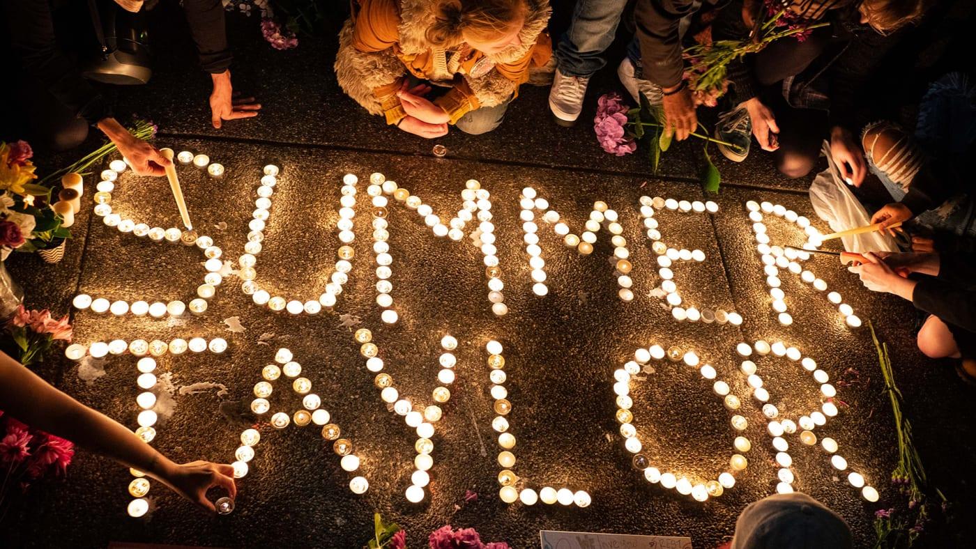 Summer Taylor vigil in Seattle.