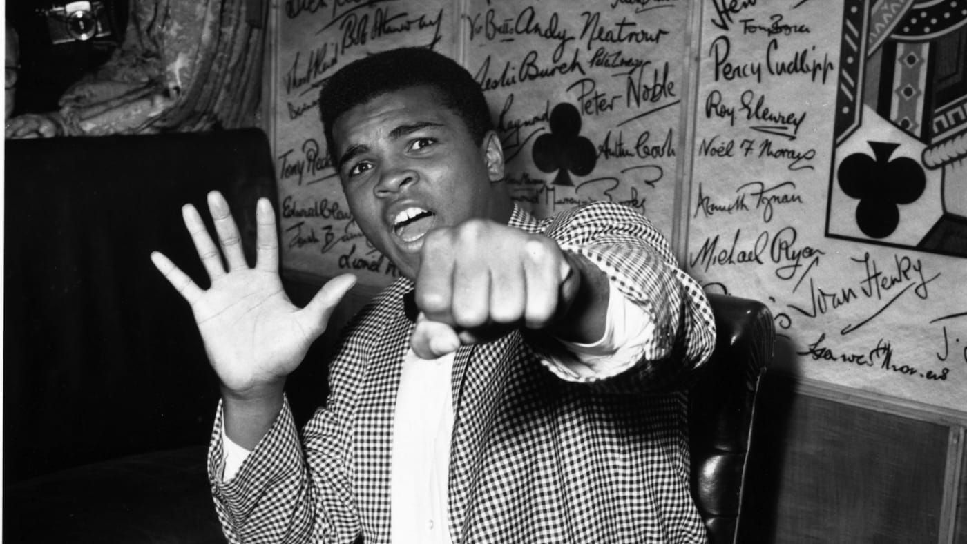 American boxer Muhammad Ali