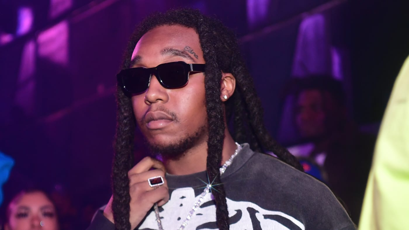 Takeoff of the group Migos attend Hawks vs Nets After Party