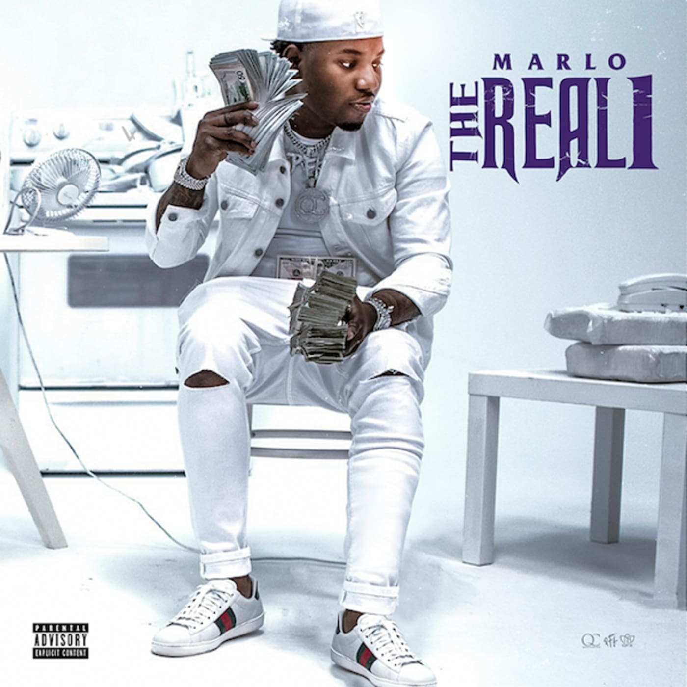 Cover art for Marlo's project 'The Real 1'