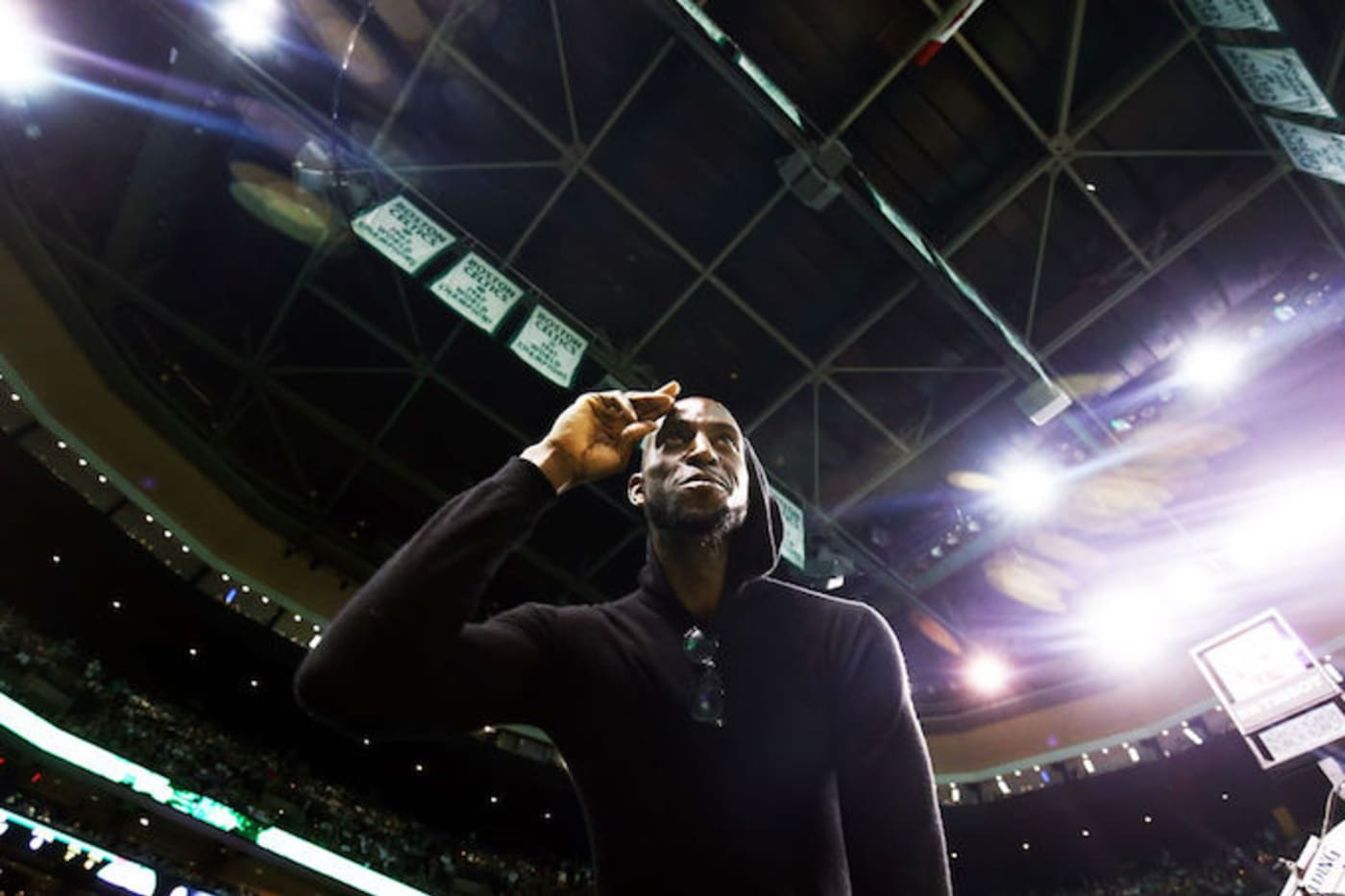 This is a picture of Kevin Garnett/Adam Glanzman