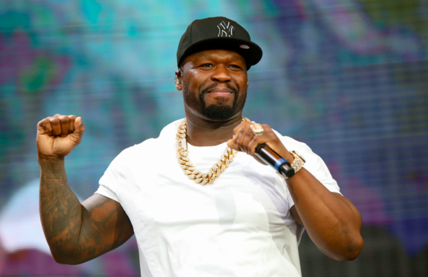 50 Cent performs during Friday James Live 2019
