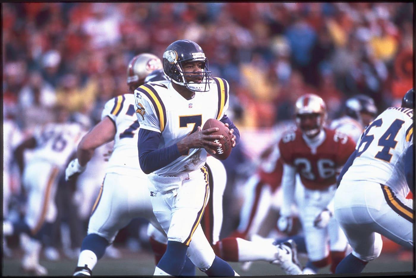 Quarterback Randall Cunningham Vikings