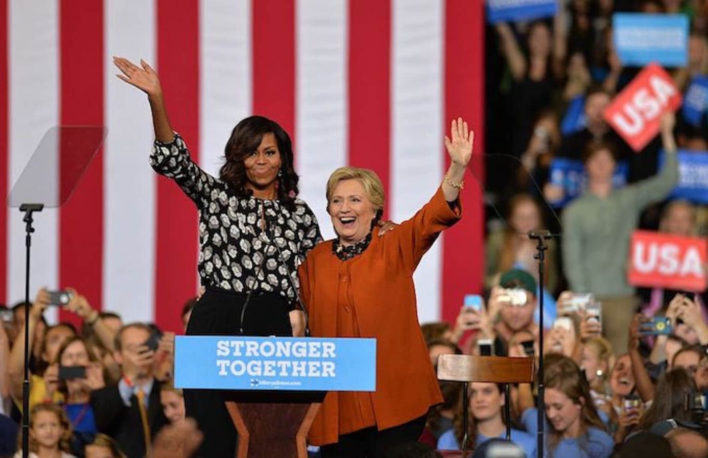 Michelle Obama, Hillary Clinton polls