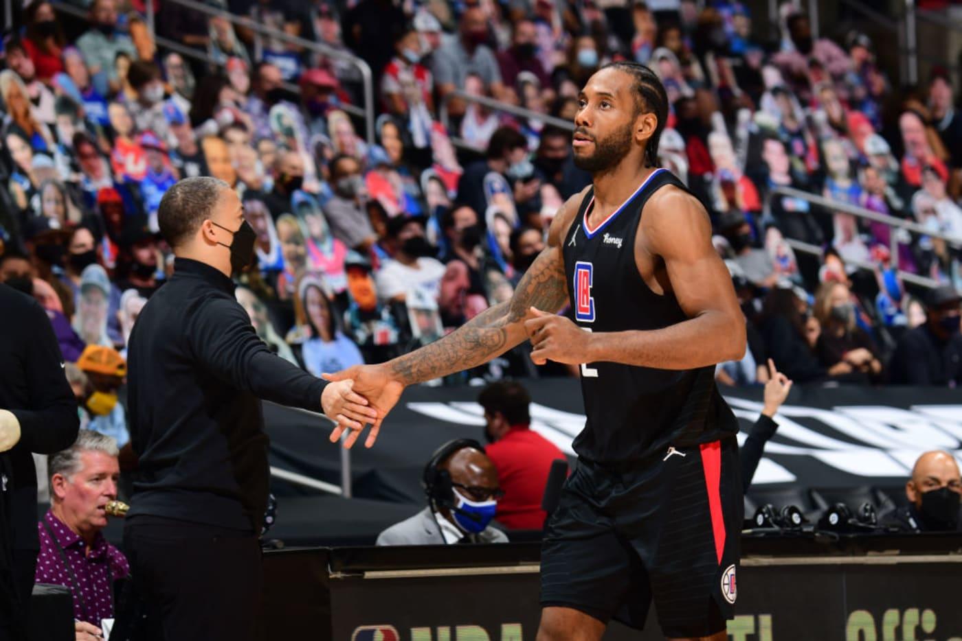 Kawhi Leonard Ty Lue NBA Playoffs 2021
