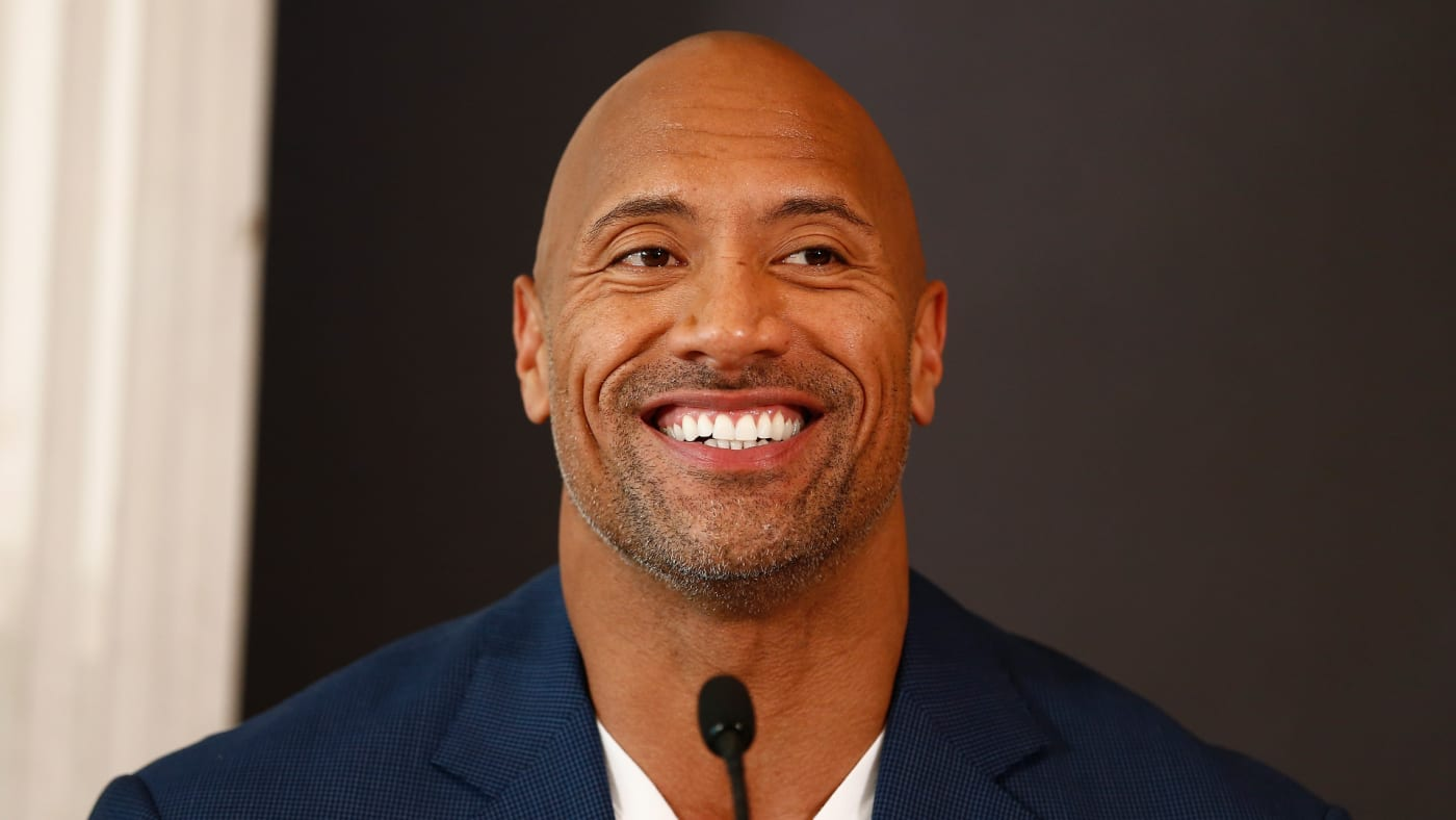 Dwayne Johnson attends the press conference of Paramount Pictures 'HERCULES.'