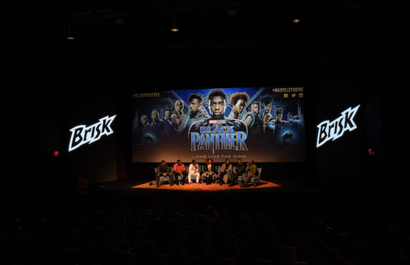 A 'Black Panther' advanced screening.