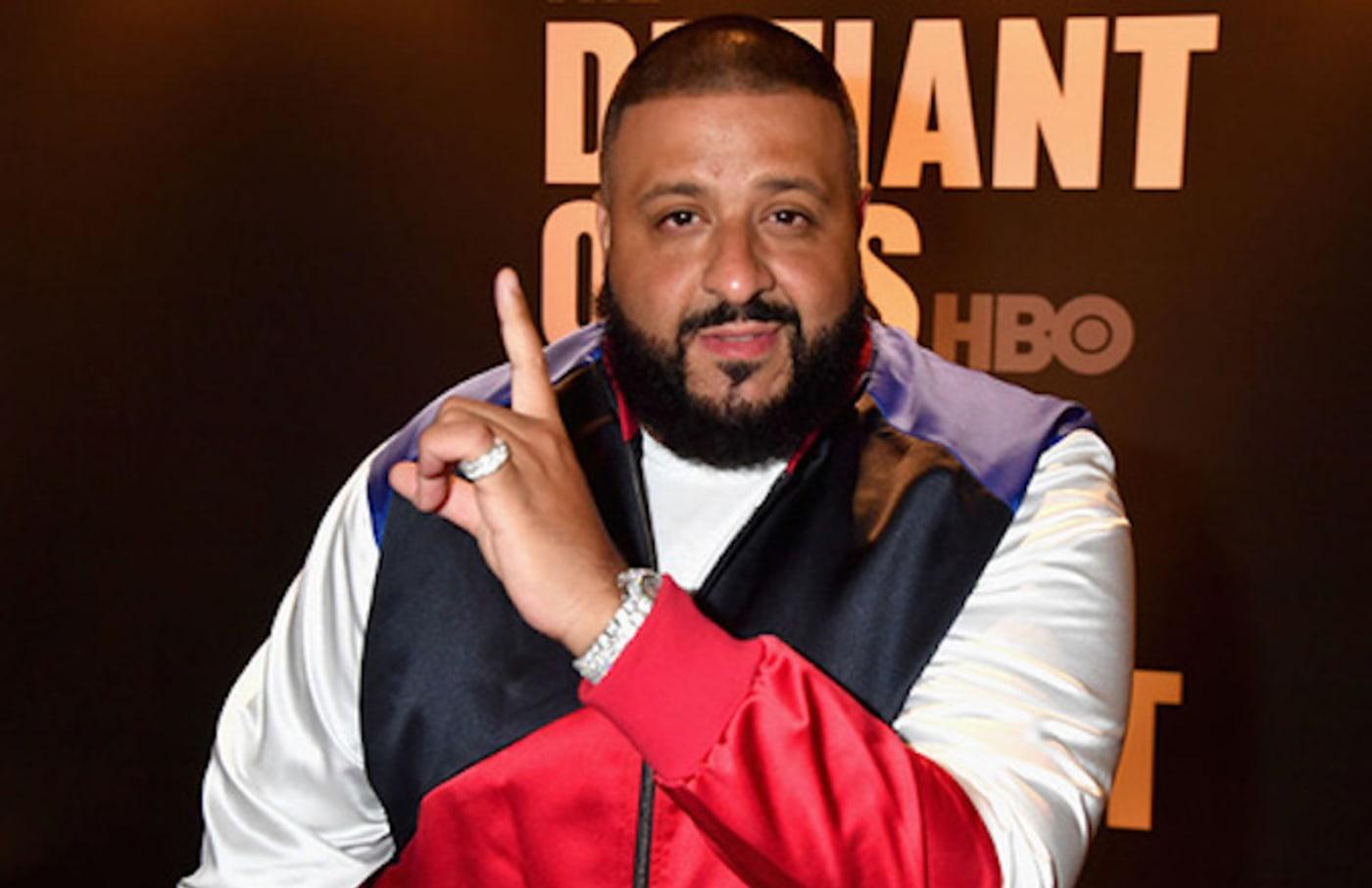 "DJ Khaled appears on carpet of ""Defiant Ones"" screenng."