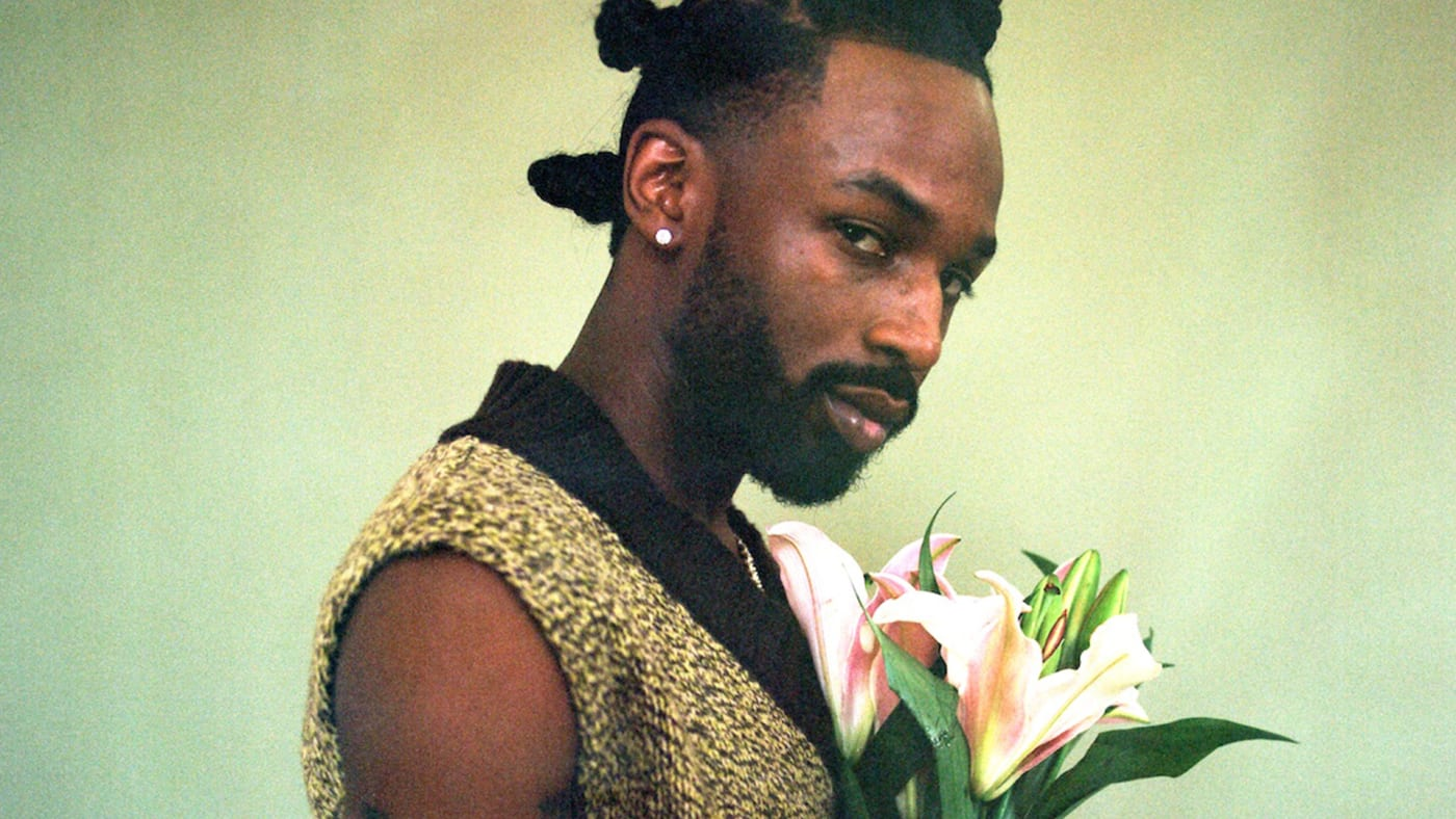 Jazz Cartier with pink lilies