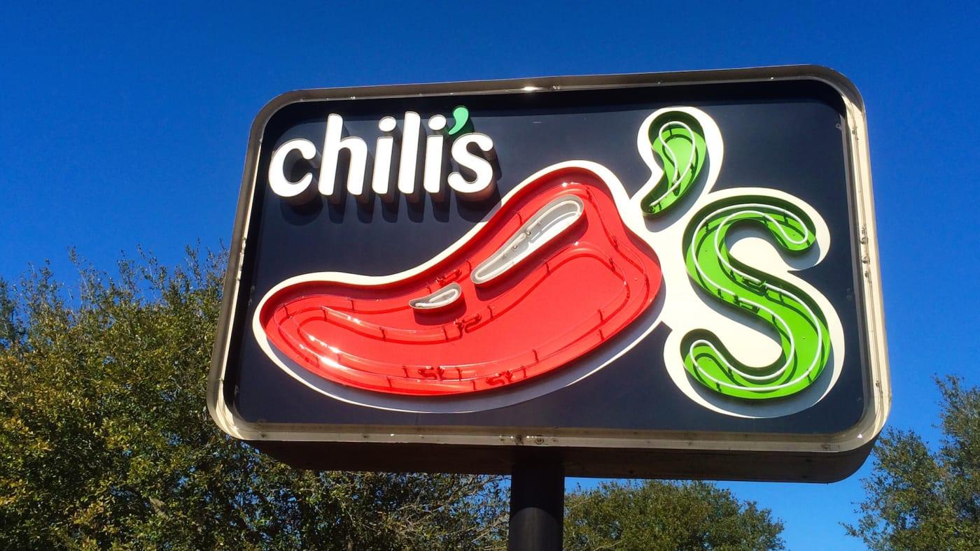 Sign for Chili's restaurant at Jacksonville Beach, Florida, USA
