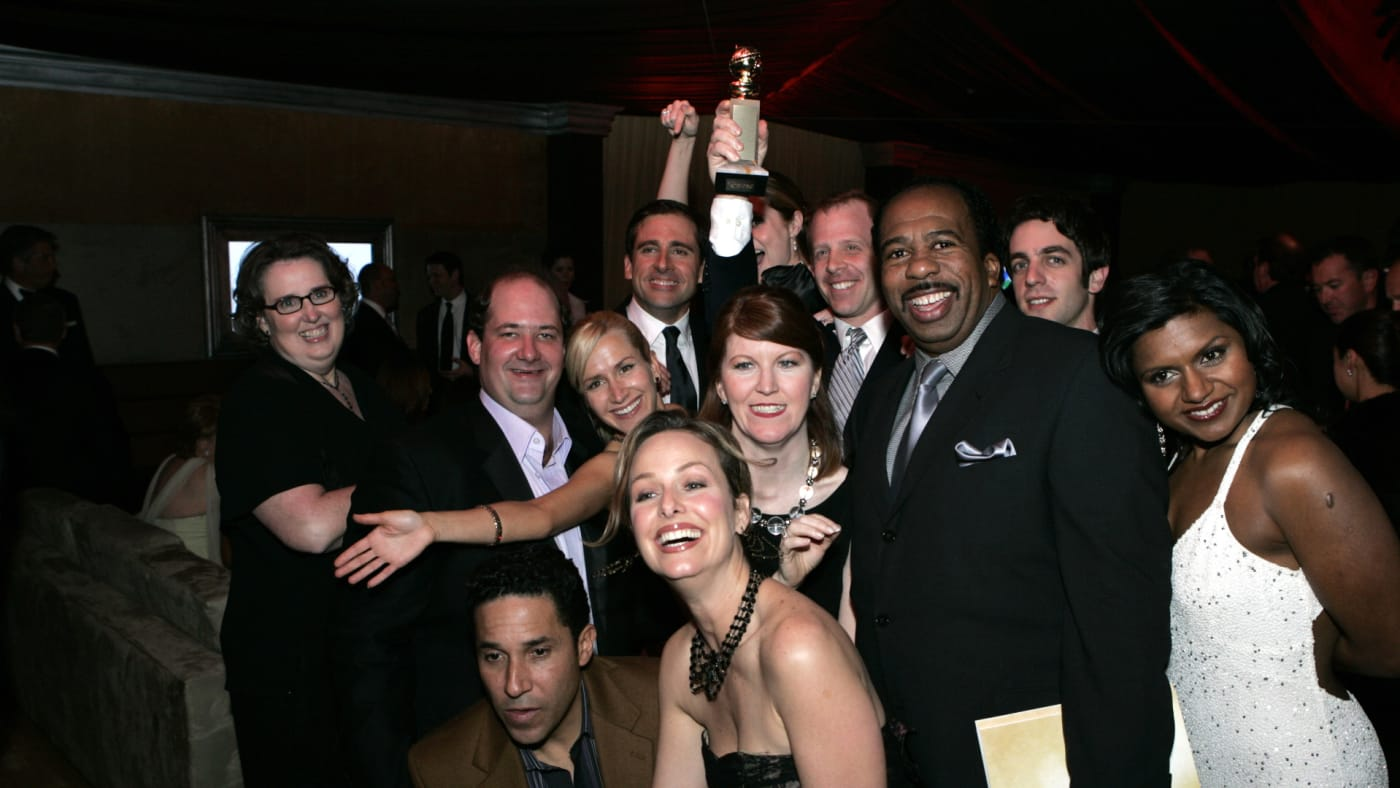 The cast of 'The Office' during 2006 Golden Globes After Party.