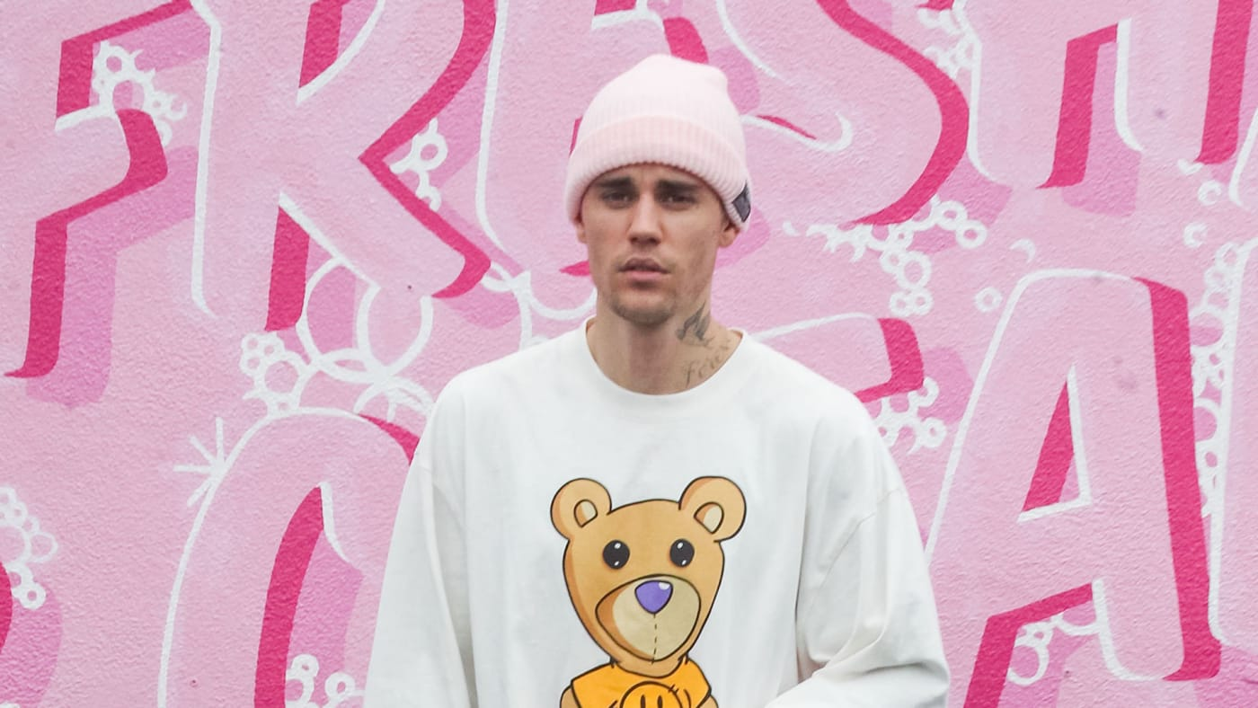 Justin Bieber is seen on March 13, 2020 in Los Angeles.
