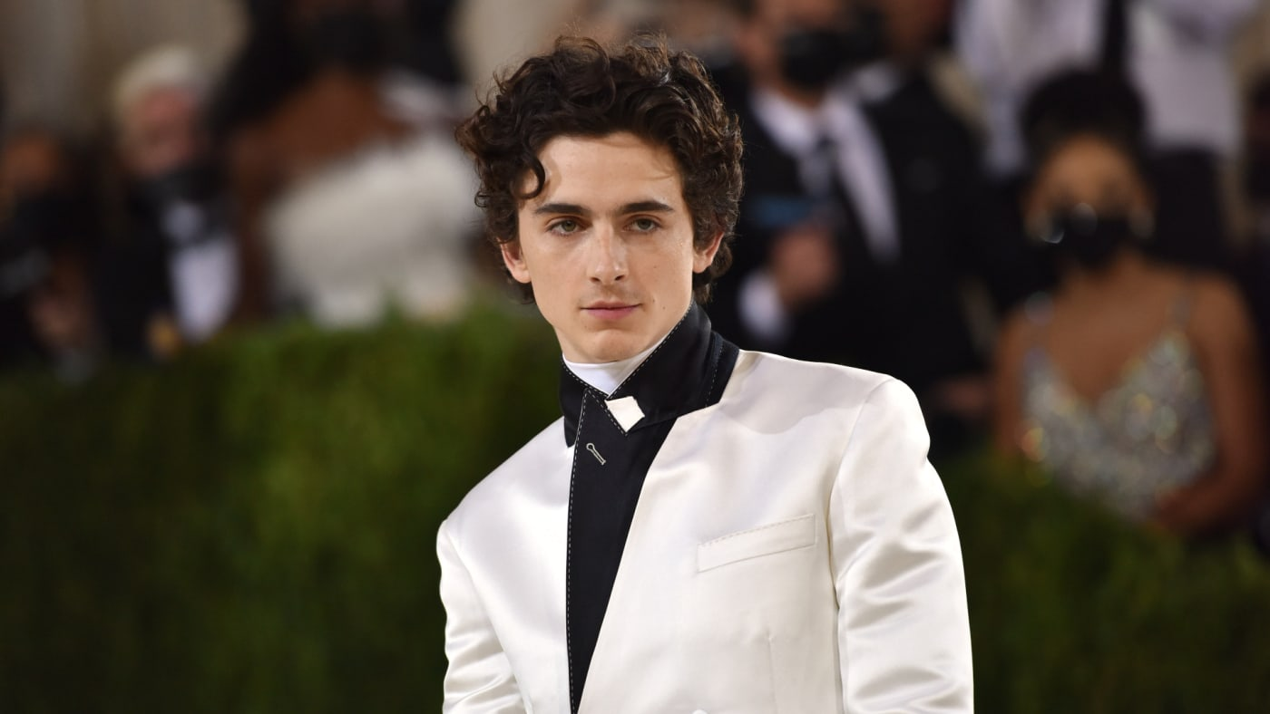 Timothée Chalamet attends 2021 Costume Institute Benefit - In America: A Lexicon of Fashion.