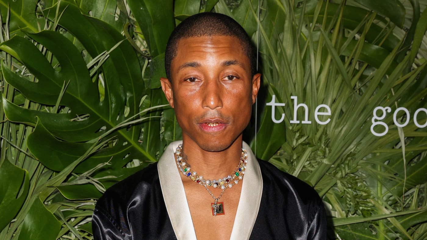 Pharrell Williams attends the Inter Miami CF Season Opening Party