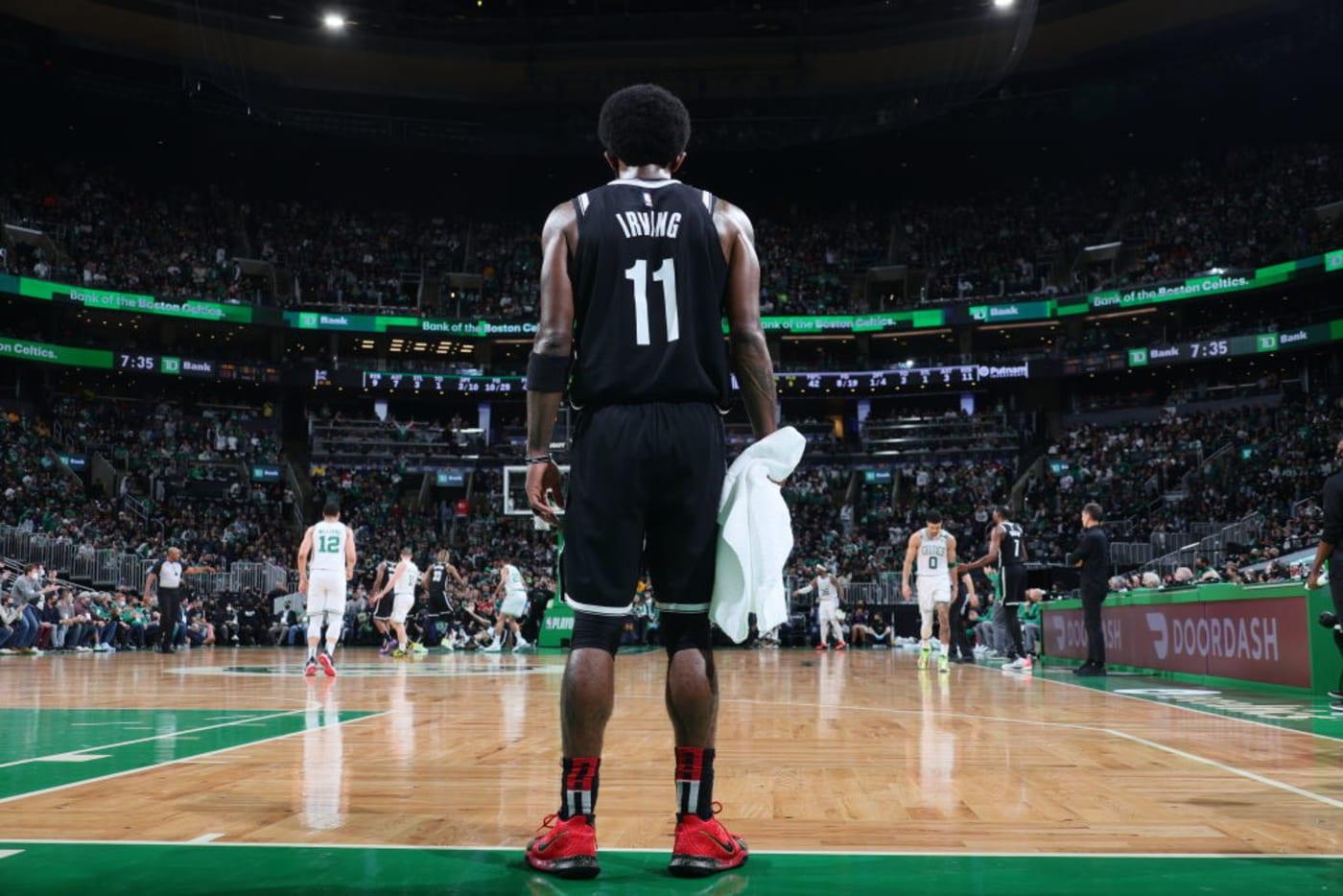 Kyrie Irving Nets Celtics Playoffs Boston 2021
