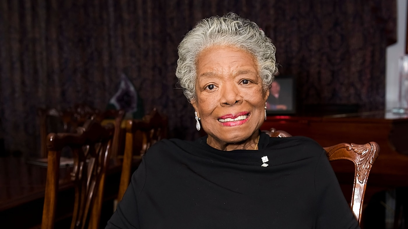 Dr. Maya Angelou poses at the the Special Recognition Event.