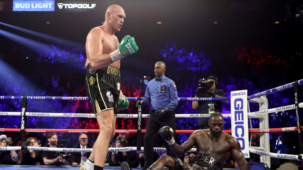 Tyson Fury Deontay Wilder Standing Over 2020