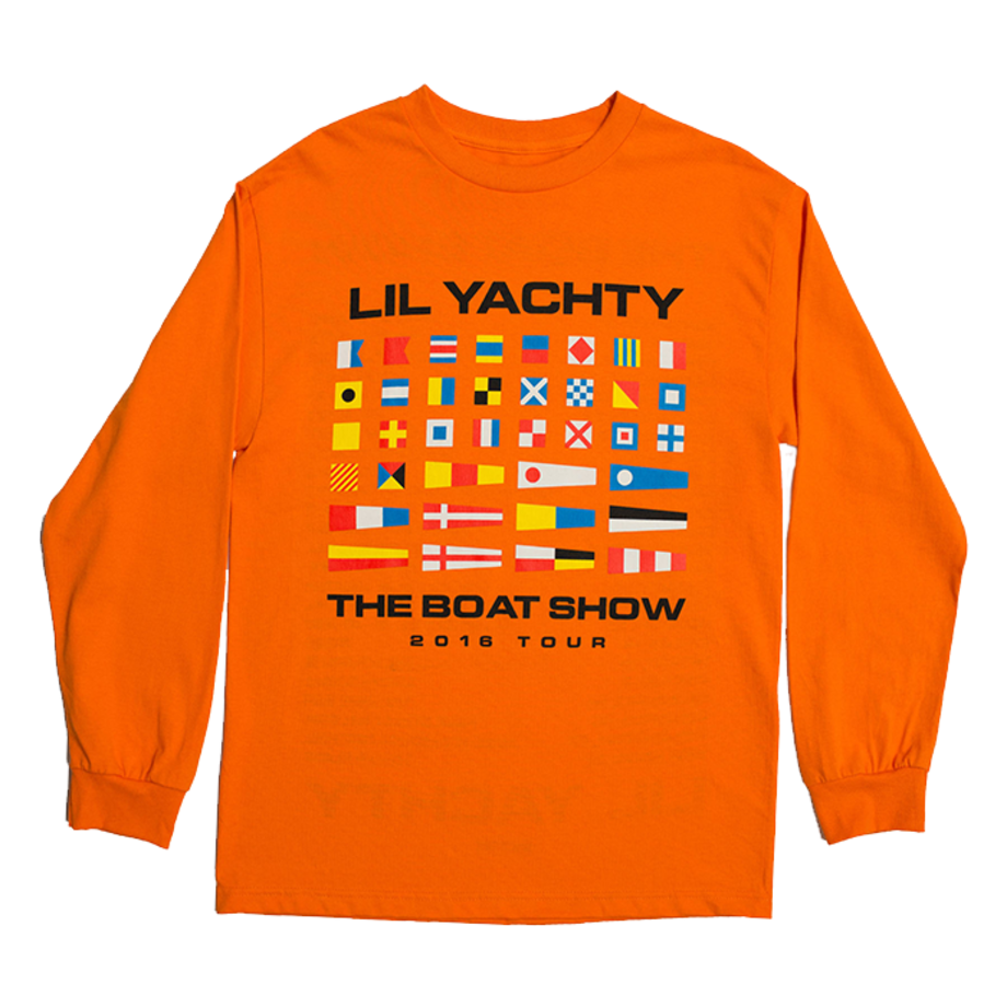 Lil Yachty Merch, Orange Boat Show Shirt