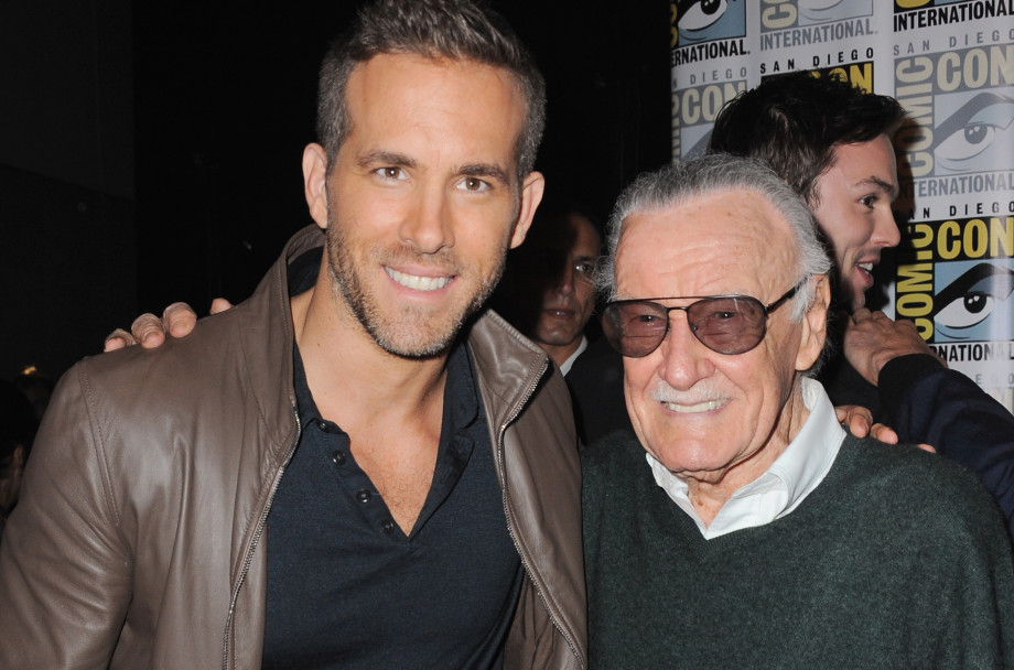 Ryan Reynolds and Stan Lee at Comic-Con International 2015