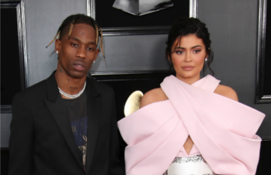 Travis Scott and Kylie Jenner at the GRAMMYS