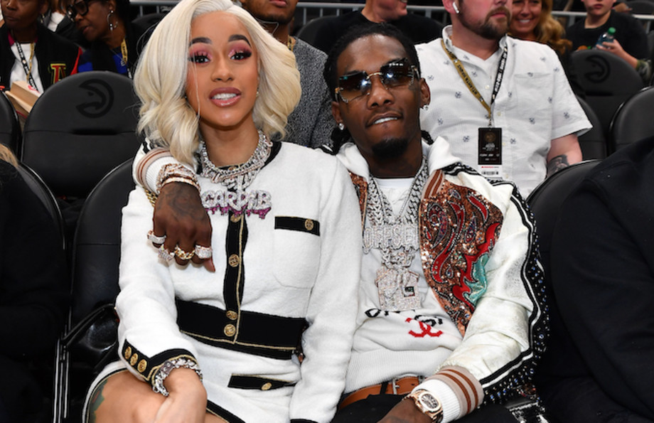 Cardi B and Offset attend Atlanta Hawks vs Boston Celtics Game.