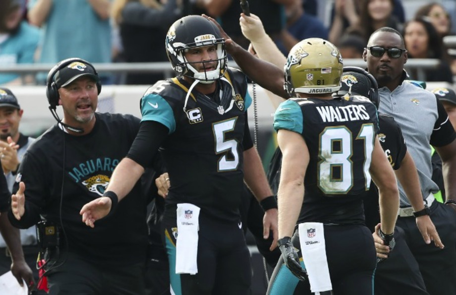 Jacksonville Jaguars playing in a game