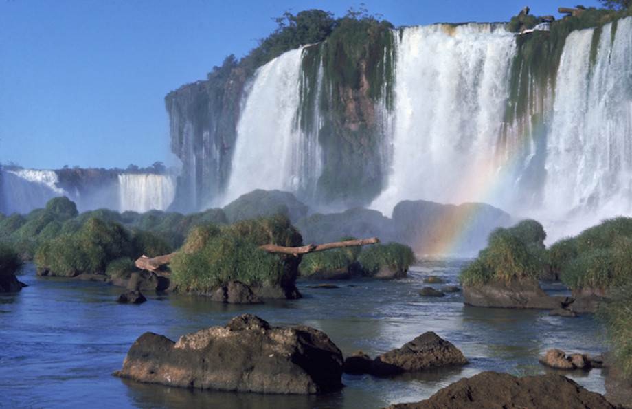 Iguaçu Falls, a waterfall on Brazil/Argentina border.