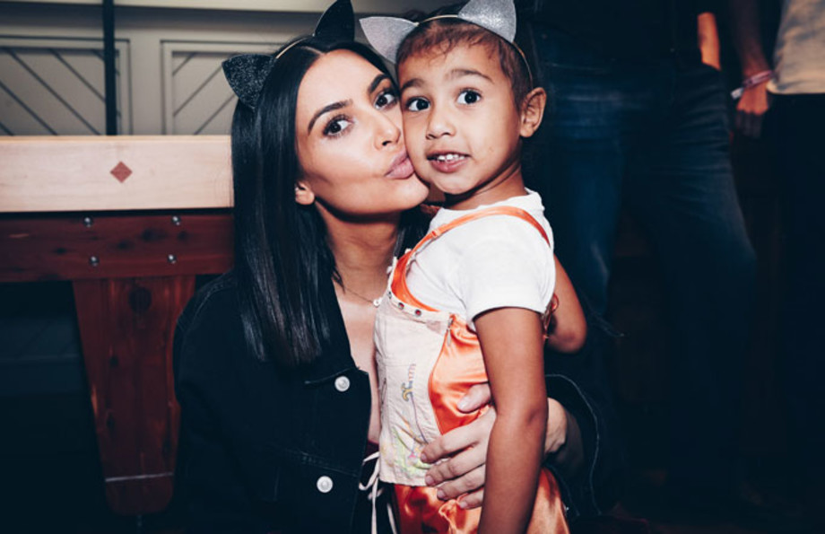Kim Kardashian with North West