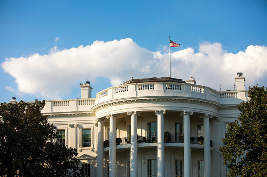 The south facade of the White House