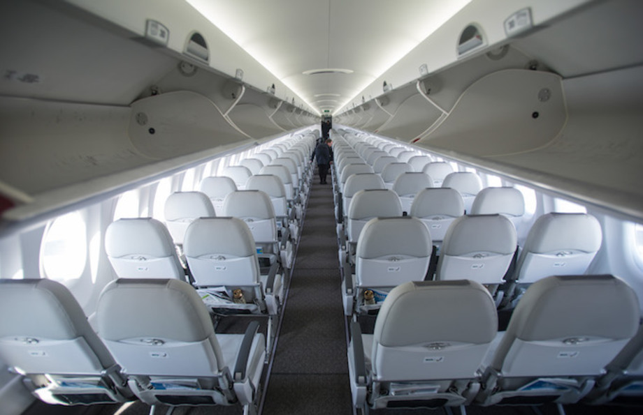 Air Baltic is the first operator to fly the brand new Canadian made Bombardier CS300 airplane.