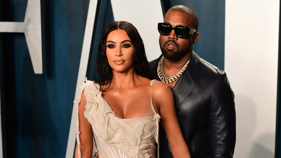 Kim K and Kanye W